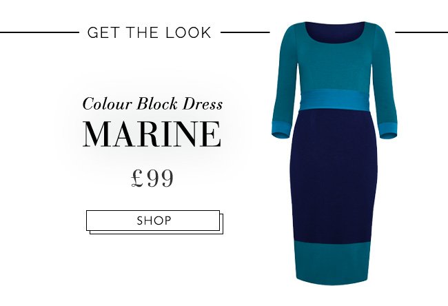 Colour Block Dress Marine