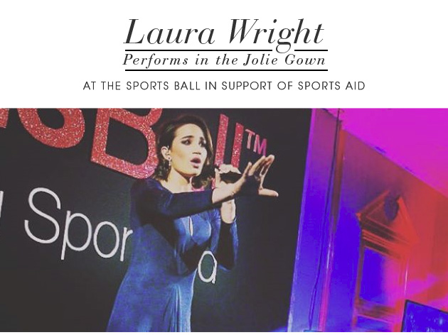 Laura Wright Performs in the Jolie Gown at the Sports Ball in support of Sports Aid