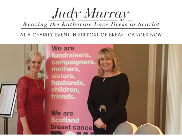 Judy Murray wearing the Katherine Lace Dress