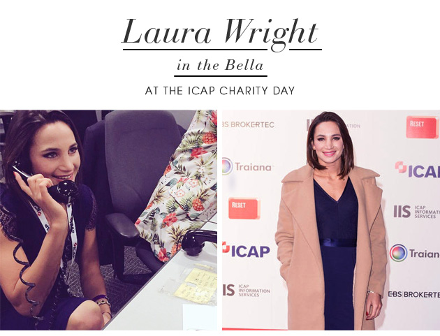 Laura Wright in the Bella at the ICAP Charity Day
