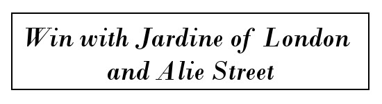 Win with Jardine of London and Alie Street