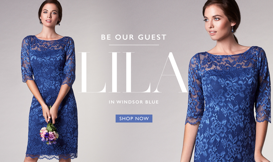 Lila Occasion Dress Short Windsor Blue