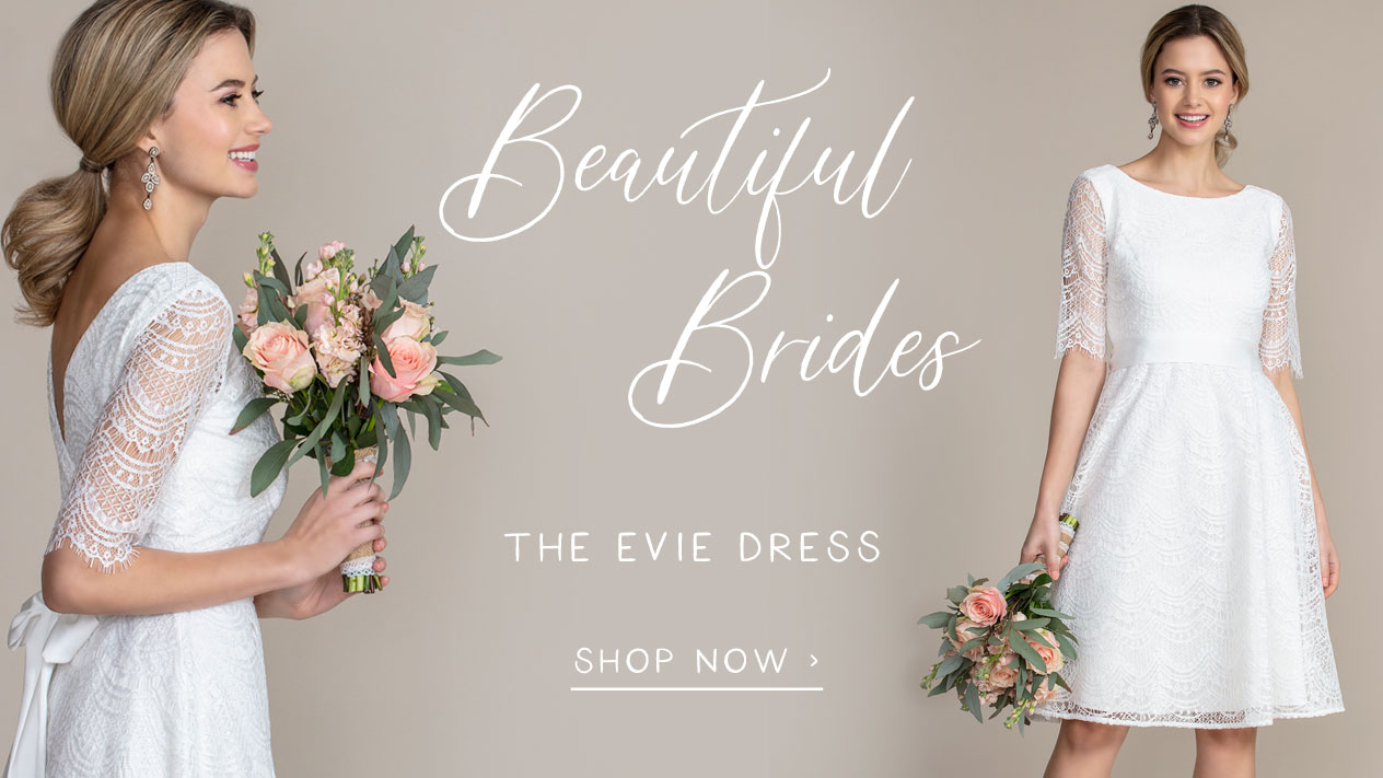 Evie Lace Dress short Ivory