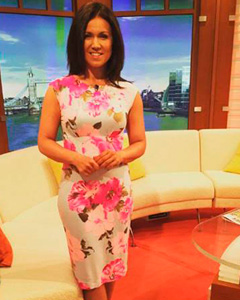 Susanna Reid wearing the Pippa Shift Dress (Grand Jardin)