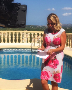 Jasmine Harman wearing the Pippa Shift Dress (Grand Jardin)