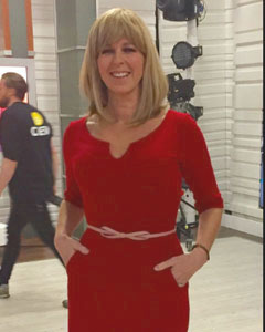 Kate Garraway wearing the Morgan Dress (Chilli Pepper)