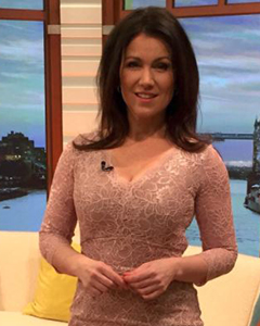Susanna Reid wearing the Anya Lace Dress (Blush)