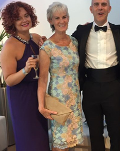 Judy Murray wearing the Atlanta Dress (Pastel Daisy)