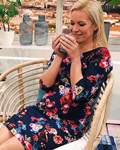 Ina Dietz wearing the Holly Dress (Midnight Garden)