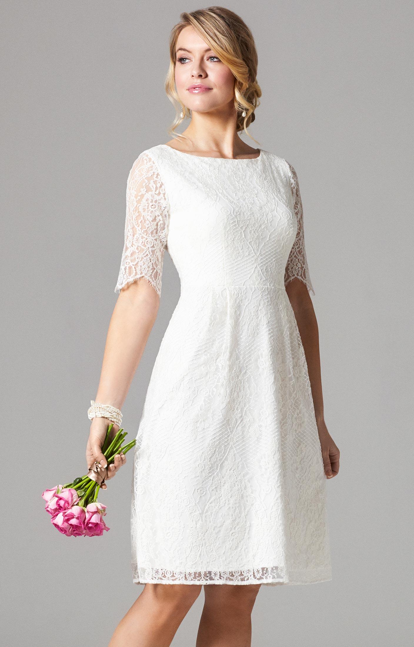 Ariana Kleid kurz in Elfenbein - Hochzeitskleider, Abendgarderobe ...