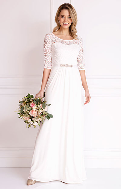 Adriana Gown Long (Ivory) by Alie Street