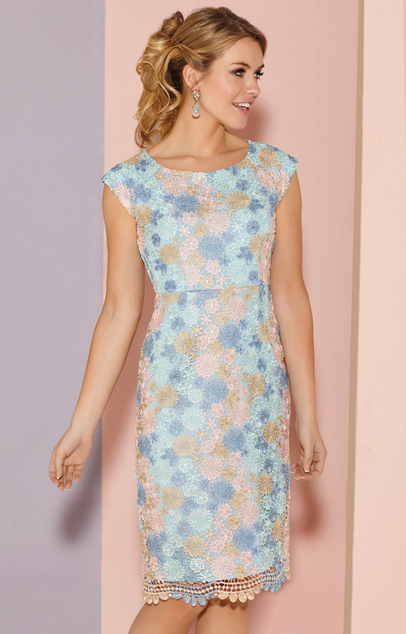 Atlanta Dress Short Pastel Daisy Evening Dresses