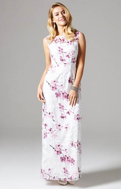 Amy Gown Long Cherry Blossom by Alie Street