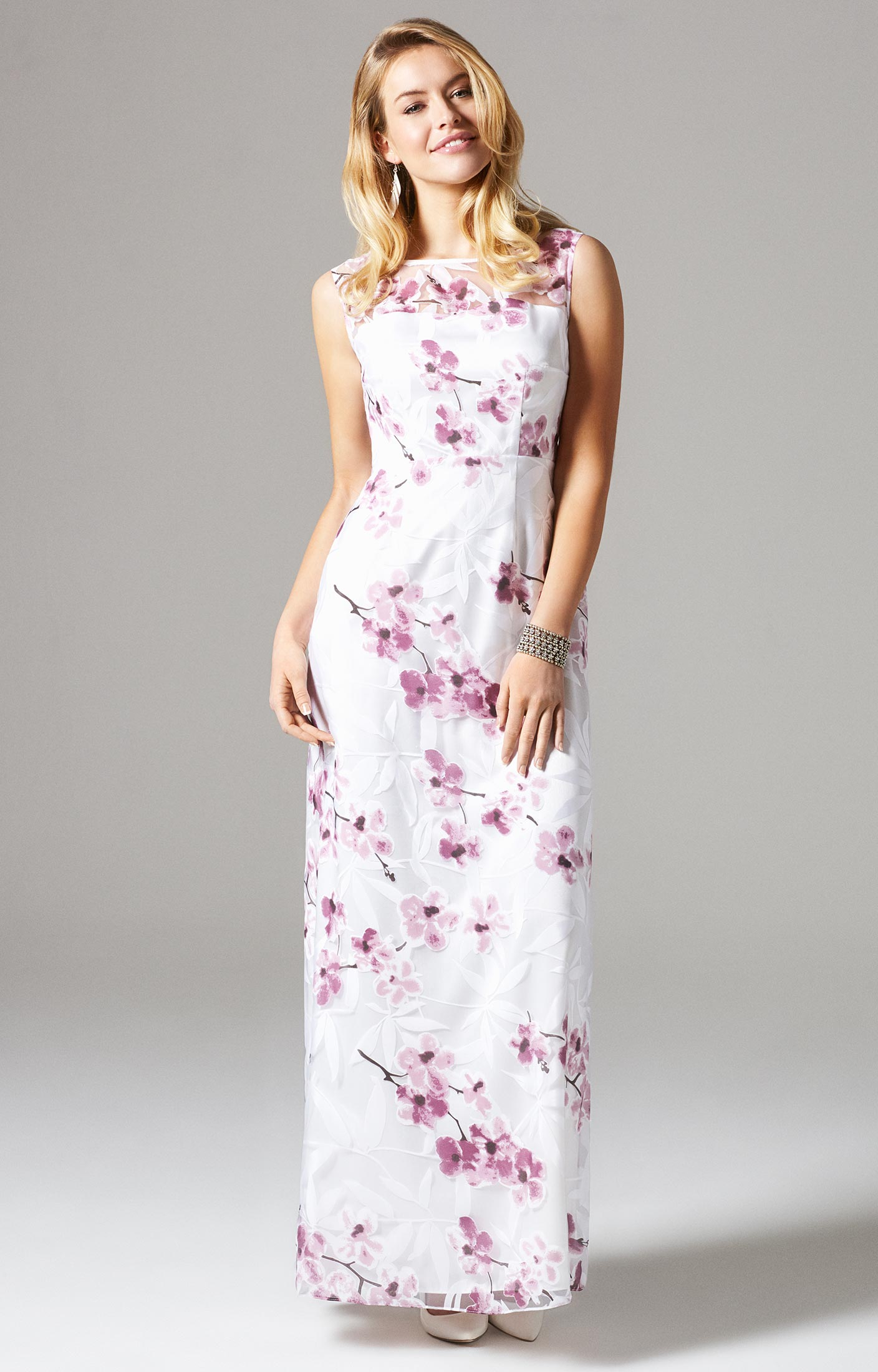 Excellent Amy Gown Long Cherry Blossom - Wedding Dresses, Evening Wear and  DU05