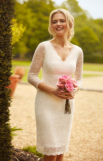 Anya Lace Wedding Dress Ivory by Alie Street