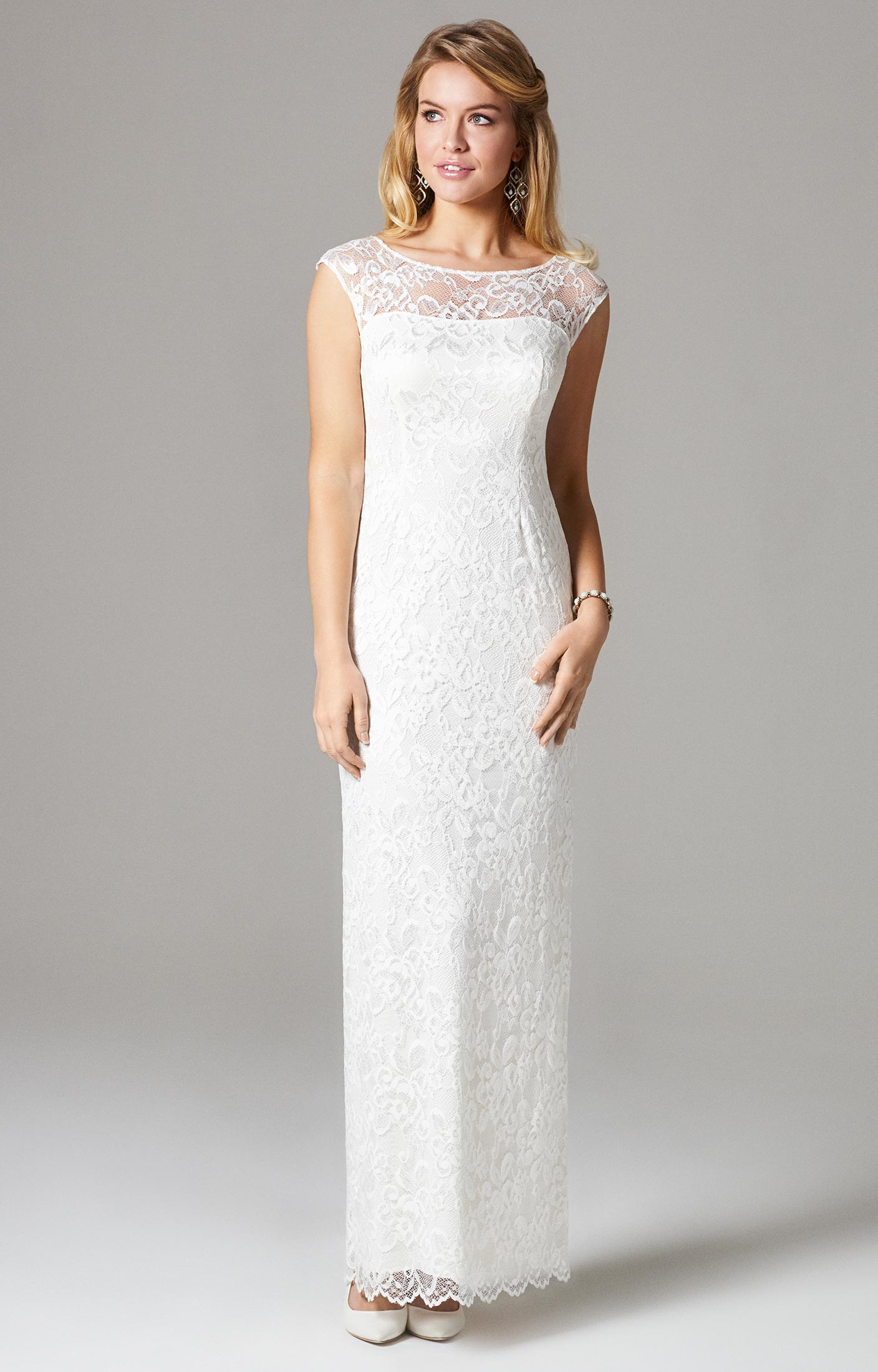 Amber Wedding Gown Long Ivory - Evening Dresses, Occasion Wear and Wedding Dresses by Alie Street.