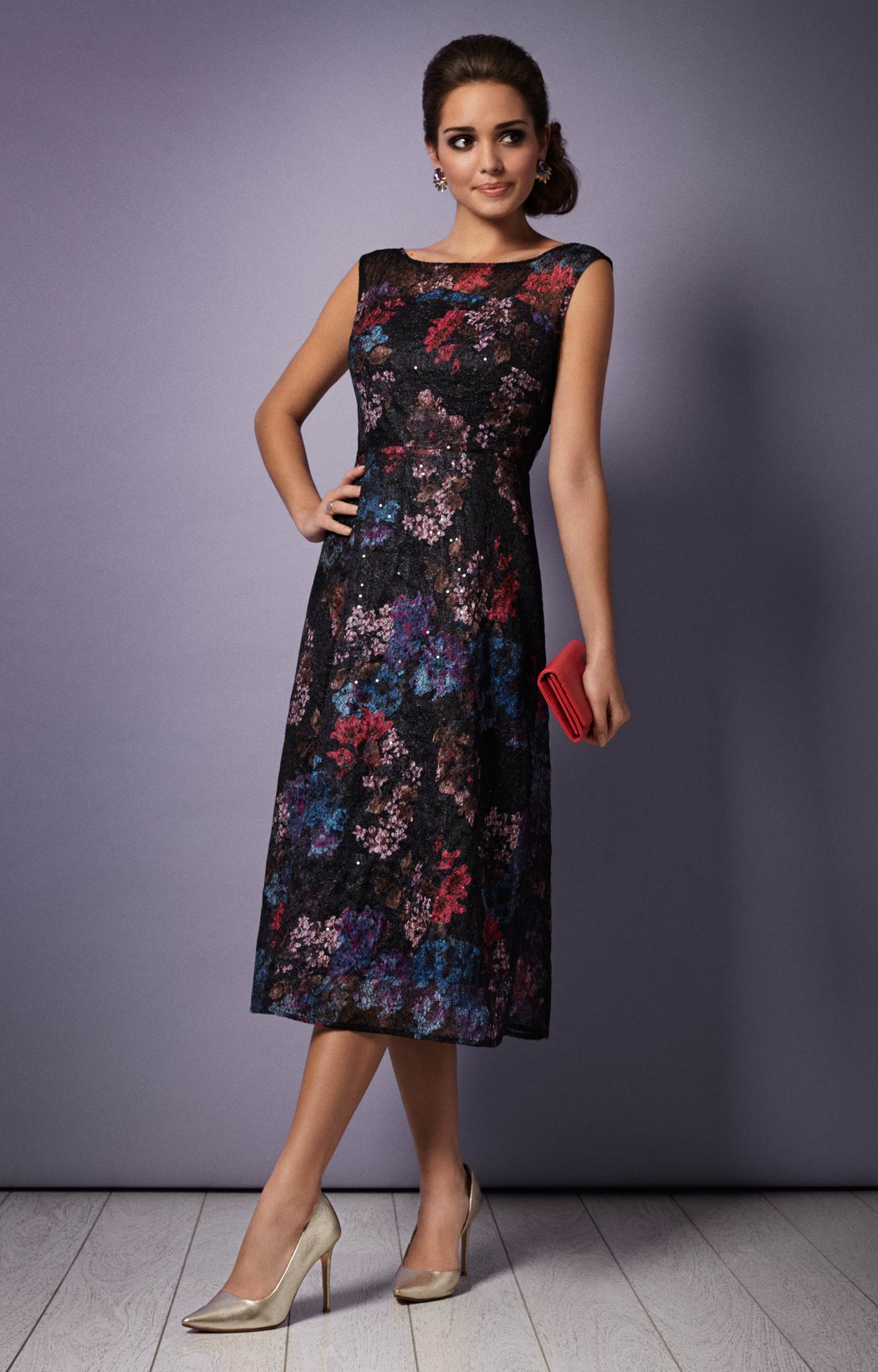 Azalia Midi Evening Gown (Oriental Bloom) - Evening Dresses ...