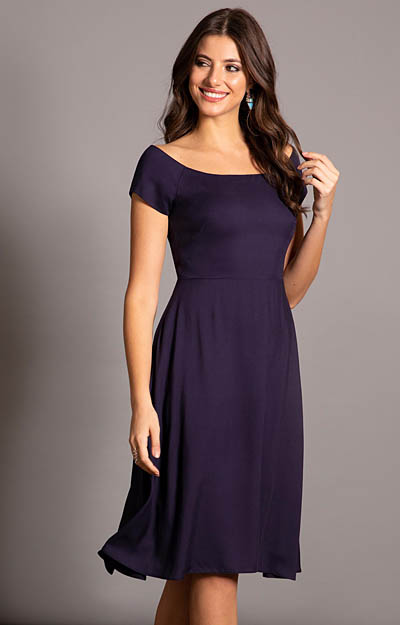 Aurora Dress Navy by Alie Street