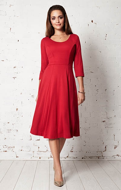 Claire Day Dress (Chilli Pepper) by Alie Street