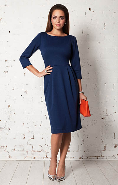Emily Shift Day Dress Deep Ultramarine by Alie Street