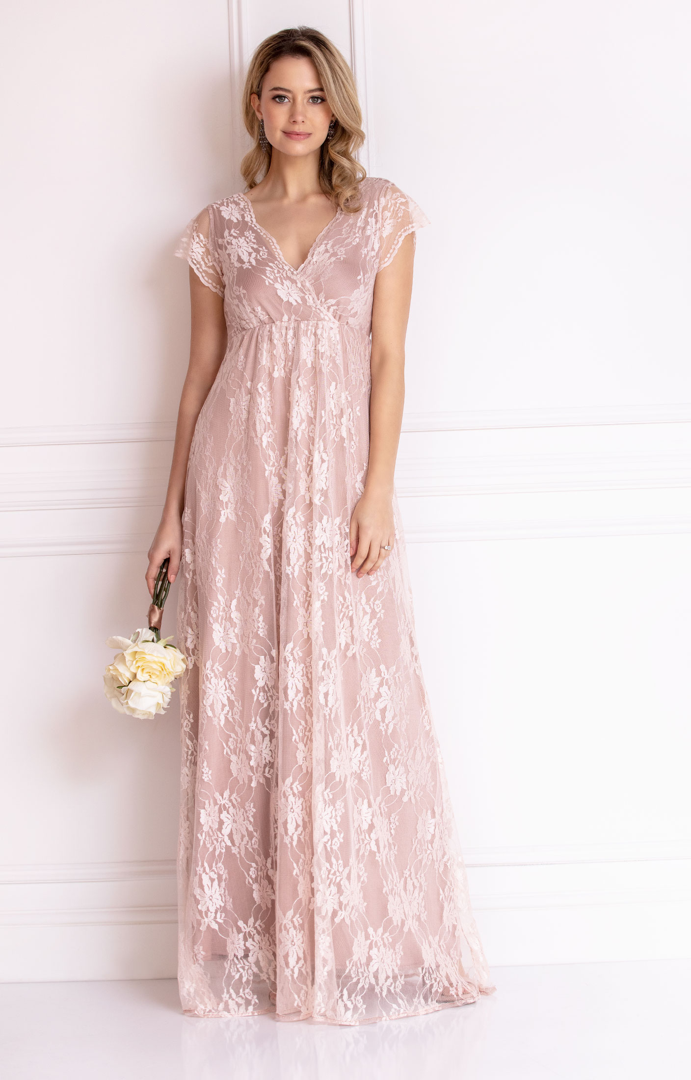 Evangeline evening gown blush wedding dresses evening for How to dress for an evening wedding