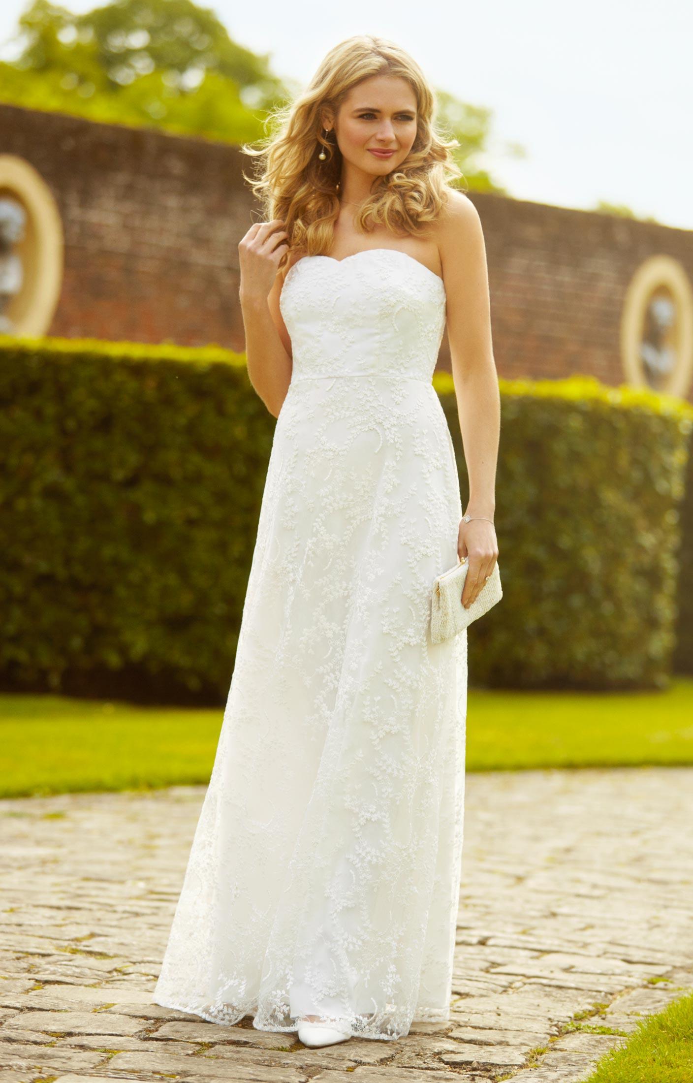 Flora Hochzeitskleid Elfenbein - Hochzeitskleider, Abendgarderobe ...
