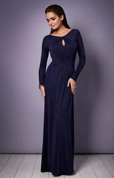 Jolie Evening Gown (Eclipse Blue) by Alie Street