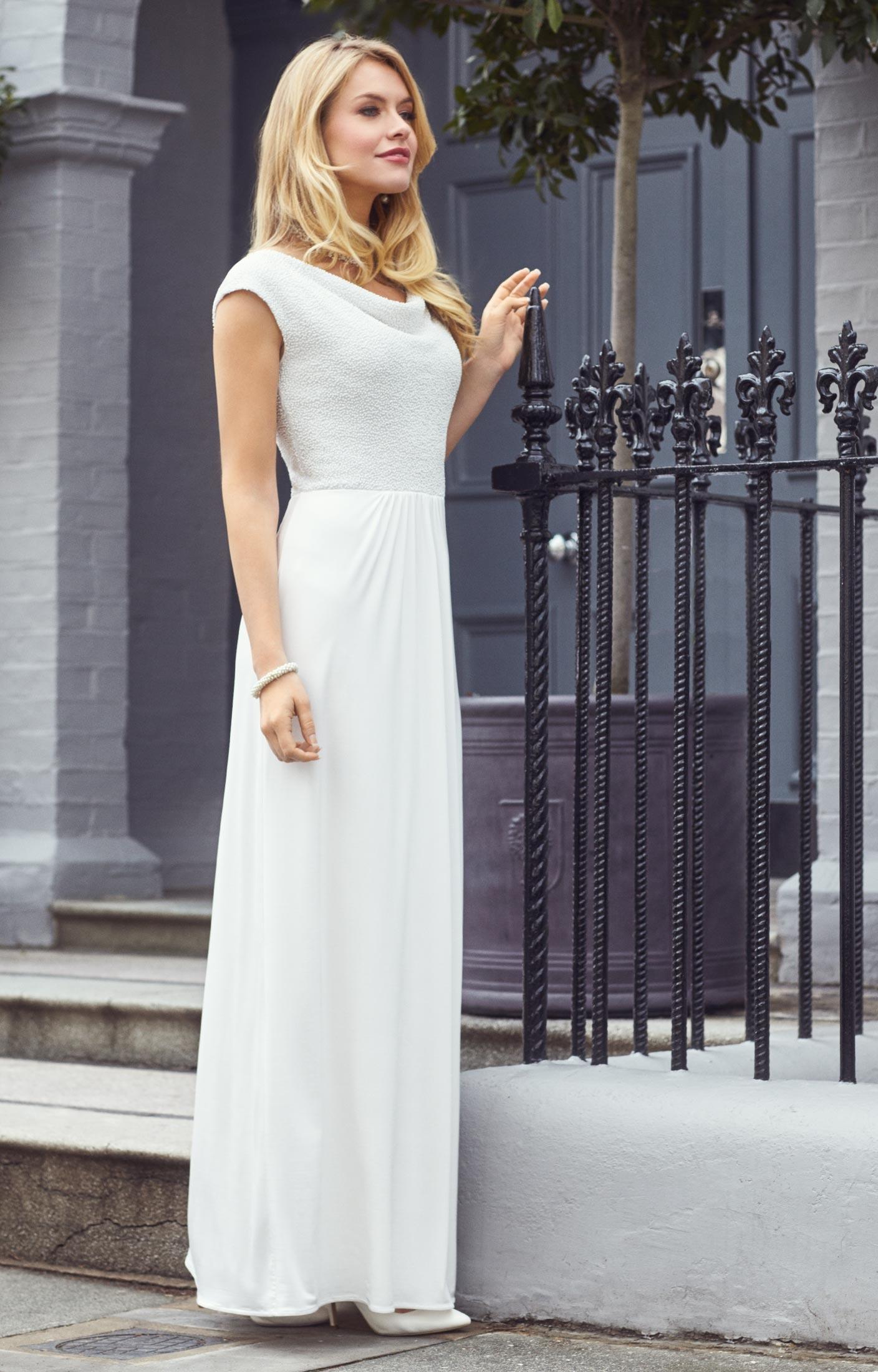 Ivory Cocktail Wedding Dresses