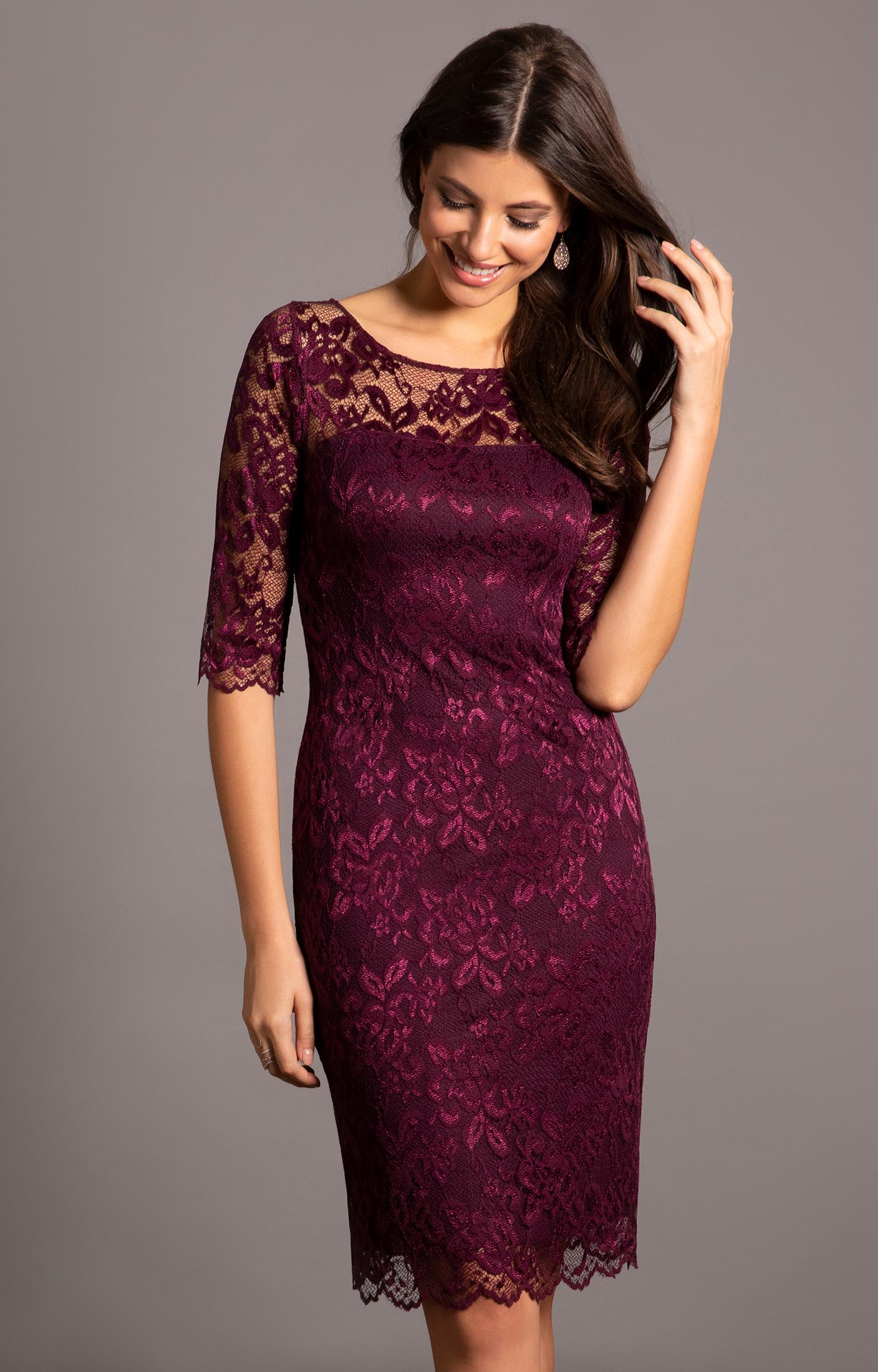 db26ee8a48 Lila Occasion Dress Short Claret - Evening Dresses, Occasion Wear ...