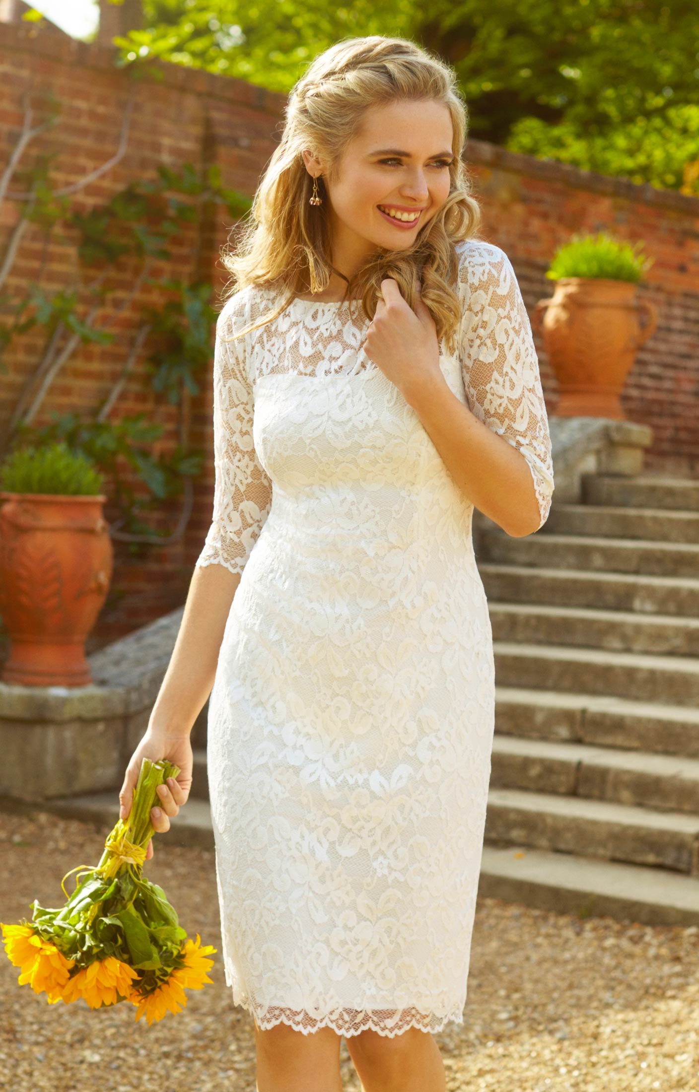 Lila Wedding Dress Short Ivory   Wedding Dresses, Evening Wear and