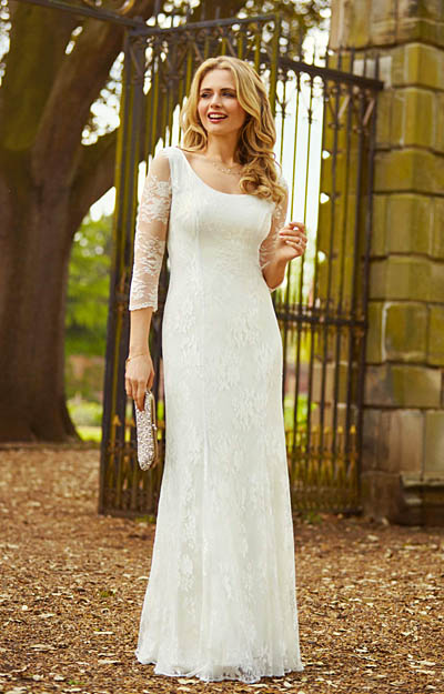 Maria Wedding Gown Ivory by Alie Street