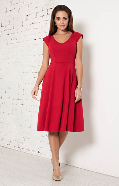 Olivia Day Dress (Chilli Pepper) by Alie Street