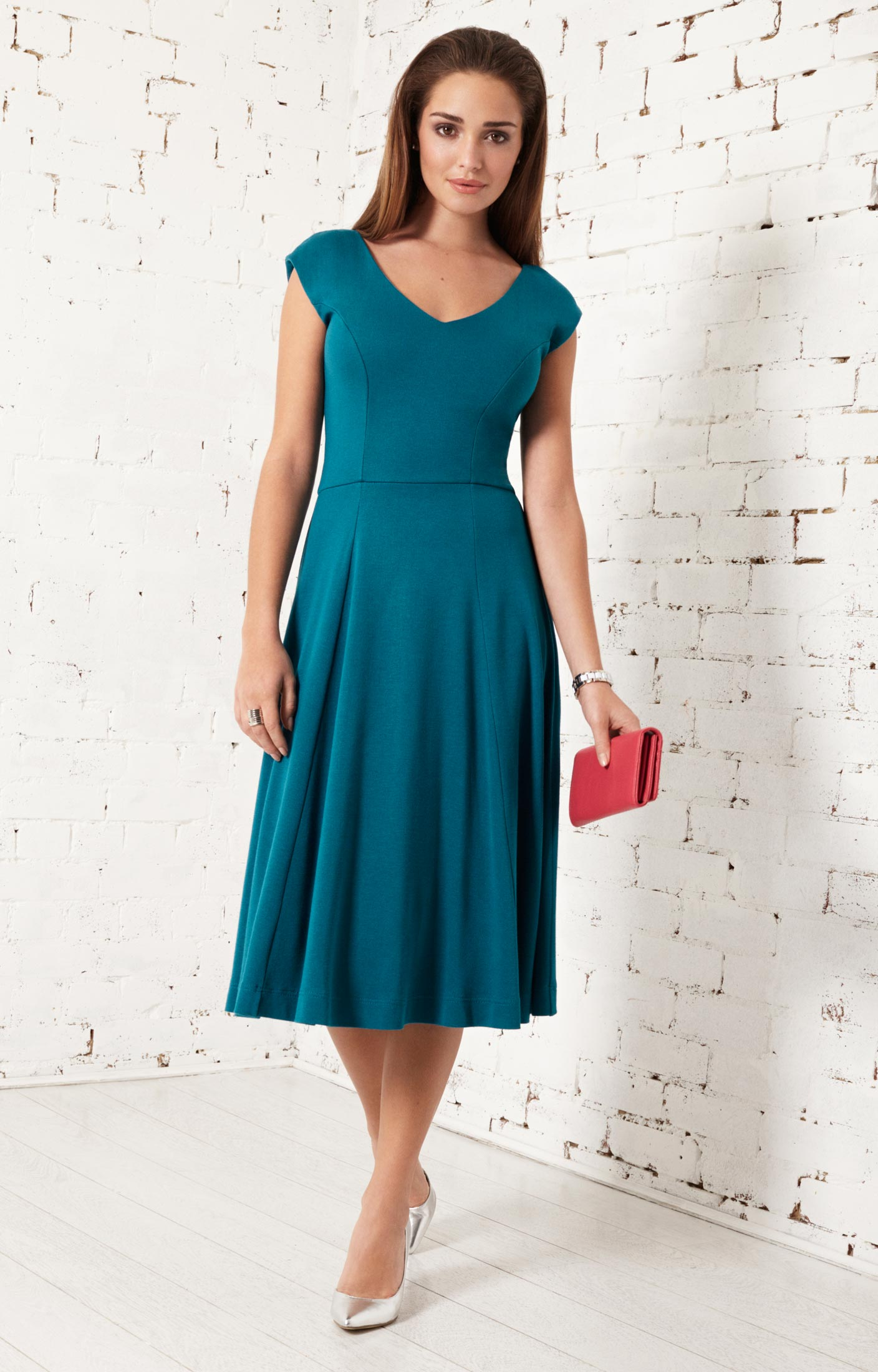 Olivia Day Dress (Kingfisher) - Evening Dresses, Occasion Wear and ...