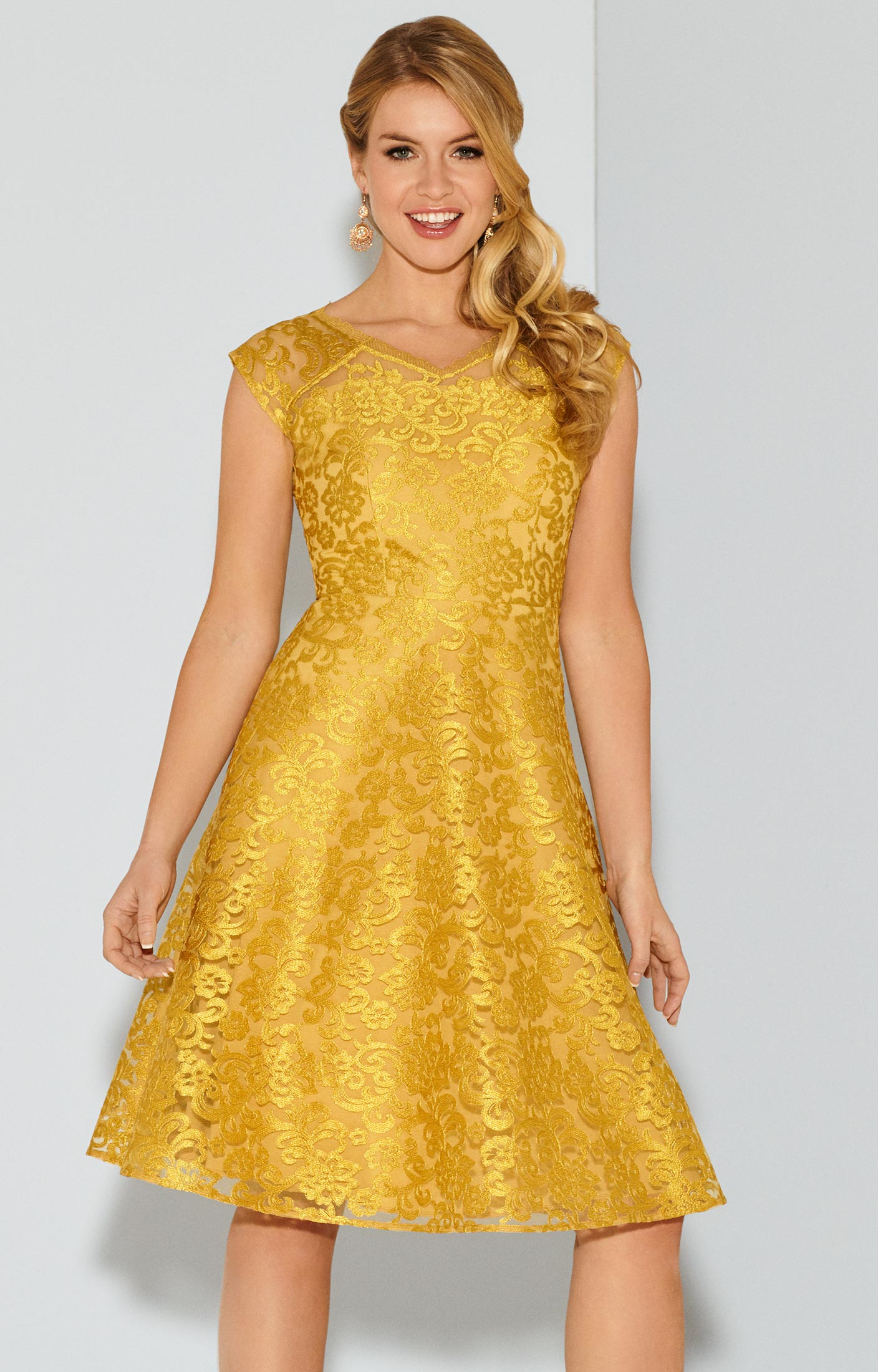 Paris Dress Saffron Gold