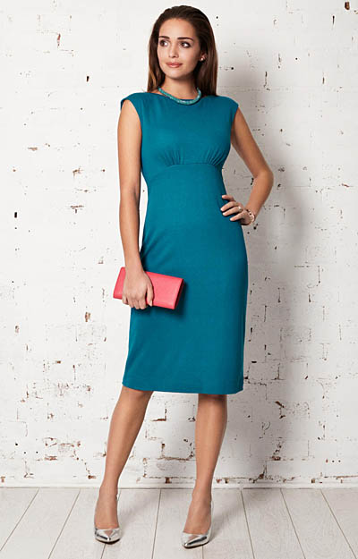 Pippa Shift Day Dress (Kingfisher) by Alie Street