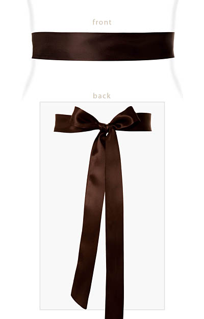 Smooth Satin Sash Slim Dark Chocolate by Alie Street