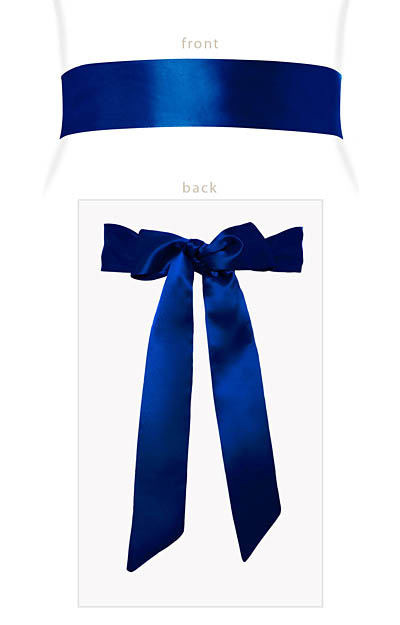 Smooth Ribbon Sash (Eclipse Blue) by Alie Street