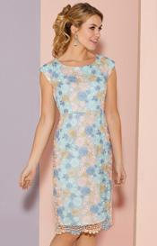 Abendkleider kurz pastell