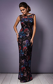 Azalia Evening Gown Oriental Bloom