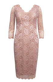 Anya Lace Occasion Dress (Blush)