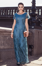 Alice Evening Gown Long Lagoon Blue
