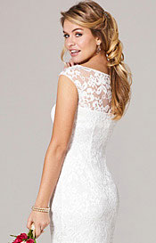 Amber Wedding Dress Short Ivory