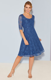Arabella Dress Short Riviera Blue