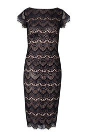 Astrid Evening Shift Dress Black Dusk