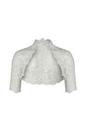 Flora Bridal/Wedding Bolero Ivory