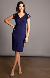 Bella Evening Shift Dress (Indigo Blue)