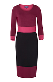 Colour Block Day Dress Berry