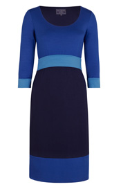 Robe Colour Block Éclat de Bleu