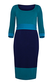 Kleid Colour Block Marine