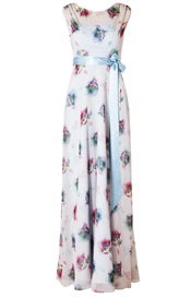 Cici Evening Gown Dusky Floral